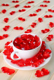 Liebevolle Herzen zusammen Stockfotos