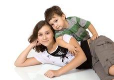Liebevolle Kinder Stockbild