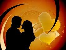 Liebevolle Paare lizenzfreie abbildung