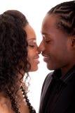 Liebevolle Paare, die einander betrachten Stockfotografie