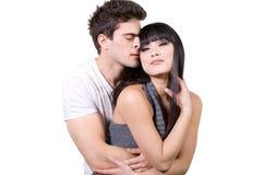 Liebevolle Paare (mit Ausschnittspfad) Stockbilder