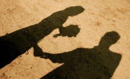 Liebevolle Schatten Stockbilder