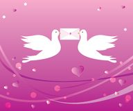 Liebevolle Tauben Stockfotografie