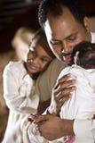 Liebevoller Familienvater Stockfotografie