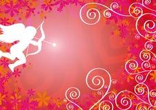 Liebevoller Hintergrund mit Amor Lizenzfreie Stockfotografie