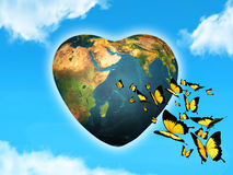 Liebevoller Planet Stockfotografie