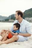 Liebevoller Vater stockbild
