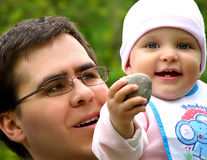 Liebevoller Vater Lizenzfreie Stockbilder