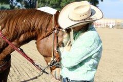 Liebevolles Pferd Stockfoto