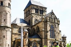 Liebfrauenkirche Church of Our Lady in Trier. Travel to Germany - edifice of Liebfrauenkirche Church of Our Lady in Trier city in summer Stock Image