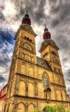 Liebfrauenkirche, una chiesa a Coblenza Fotografia Stock Libera da Diritti
