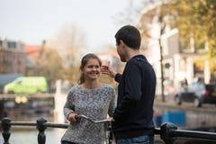 Liebhaber in Amsterdam stockbild