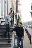 Liebhaber in Amsterdam lizenzfreies stockbild
