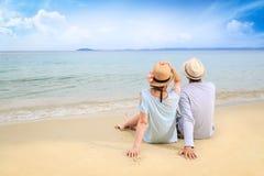 Liebhaber auf dem Strand Lizenzfreie Stockfotos