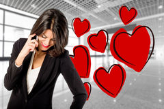 Liebhaber bei der Arbeit Lizenzfreies Stockfoto