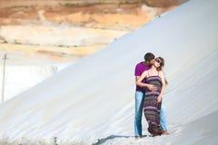 Liebhaber in der Wüste Lizenzfreie Stockbilder