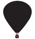 Liebhaber-Heißluft-Ballon Lizenzfreies Stockfoto