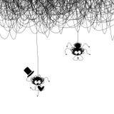 Liebhaber von Spinnen stock abbildung