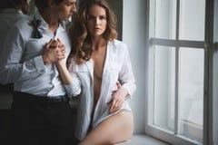 Liebhaberleute, Sex-Symbol, sexy Paar, Leidenschaft Schönheit und Mode Stockfotos