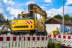 Liebherr excavator Stock Photo
