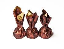 Lieblingsfestlichkeit - Schokolade im glänzenden Verpacken Stockbild
