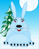 Liebres de la fauna en nieve Fotografía de archivo libre de regalías