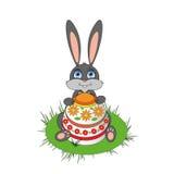 Liebres de Pascua Stock de ilustración
