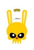 Liebres del cráneo Máscara del conejo para Halloween Ilustración del vector ilustración del vector