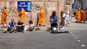 Liebres Krishna Portobello Road Fotos de archivo libres de regalías