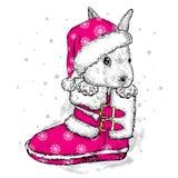 Liebres lindas en la bota y el sombrero Imagen de archivo libre de regalías