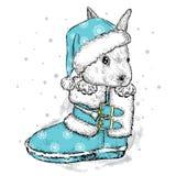 Liebres lindas en la bota y el sombrero Imágenes de archivo libres de regalías