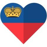 Liechtenstain heart flag Stock Image
