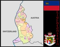 Liechtenstein Administrative divisions Royalty Free Stock Photography