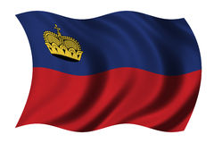 Liechtenstein bandery ilustracja wektor