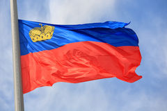 Liechtenstein bandery Obrazy Stock