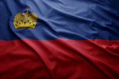 Liechtenstein bandery Zdjęcia Stock