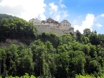 Liechtenstein castle on mountian top Royalty Free Stock Photography