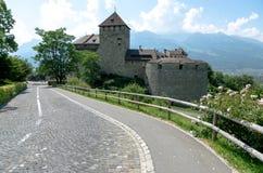 Liechtenstein Castle. With strong sunlight in Vaduz Stock Images