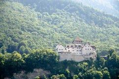 Liechtenstein Castle. With strong sunlight in Vaduz Royalty Free Stock Photography