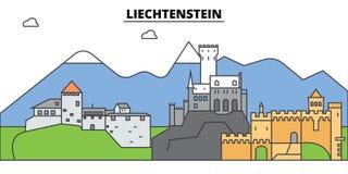 Liechtenstein. City skyline, architecture, buildings, streets, silhouette, landscape, panorama, landmarks. Editable Royalty Free Stock Photo