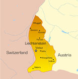 Liechtenstein country. Vector color map of Liechtenstein country Stock Image