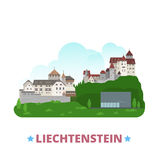 Liechtenstein country design template Flat cartoon. Liechtenstein country design template. Flat cartoon style historic sight showplace web site vector Royalty Free Stock Image