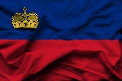 Liechtenstein realistic flag illustration. royalty free illustration