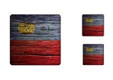 Liechtenstein Flag Buttons Royalty Free Stock Photo