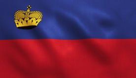 Liechtenstein Flag Stock Photo