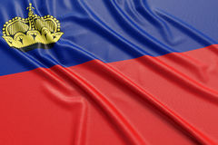 Liechtenstein flag Stock Images