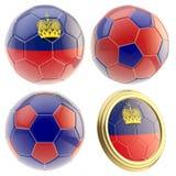 Liechtenstein football team attributes isolated Royalty Free Stock Photo