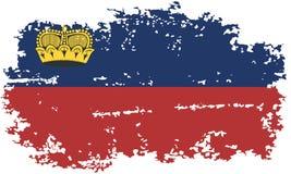 Liechtenstein grunge flag. Vector illustration. Stock Photos