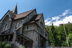 Liechtenstein kyrka Arkivbild