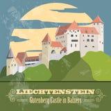 Liechtenstein landmarks. Retro styled image. Stock Image